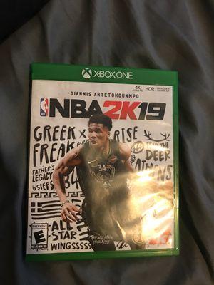 NBA 2k19xboxone for Sale in Compton, CA