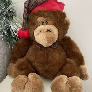 Christmas Stuffed Gorilla Animal Commonwealth Toys for Sale in West Palm Beach, FL