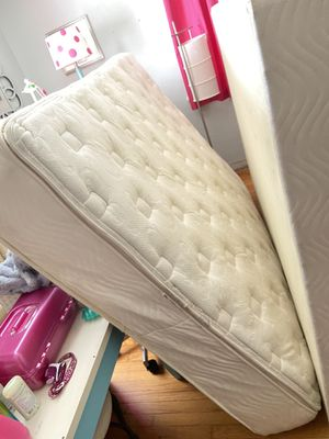 FREE Queen pillow top mattress, box spring, and metal frame. for Sale in St. Petersburg, FL