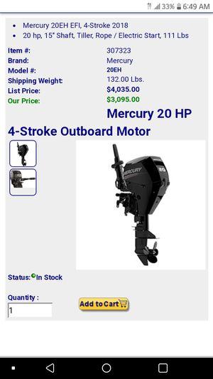 20 hp mercury for Sale in Houston, TX