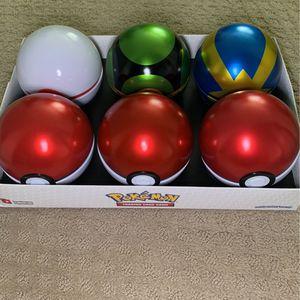 Pokemon Pokeball Assortment Empty Tin Set (6) for Sale in Auburn, WA