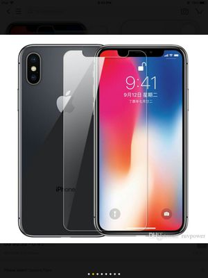 Front tempered glass screen protector for iPhone X for Sale in Phoenix, AZ