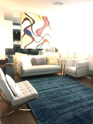 450 Leather Couch plus 1 accent chair for Sale in Los Angeles, CA