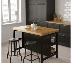 IKEA kitchen island with 2 chairs for Sale in Newark, NJ