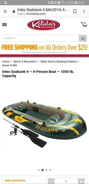 Intex seahawk 4-4 person boat for Sale in Dayton, VA