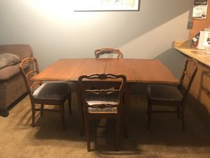 Foldable dining room table + 4 chairs for Sale in Seattle, WA