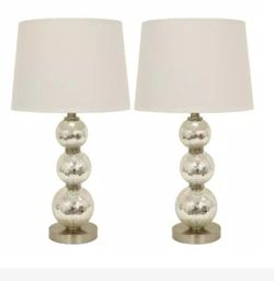 Decor Therapy Tri-Tiered 24 in. Gold Mirror Crackled Clear Glass Table Lamps for Sale in Dallas,  TX