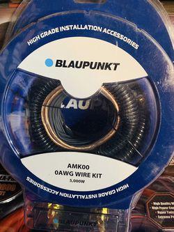 Blaupunkt 0 Gauge Amp Installation Kit for Sale in San Bernardino,  CA