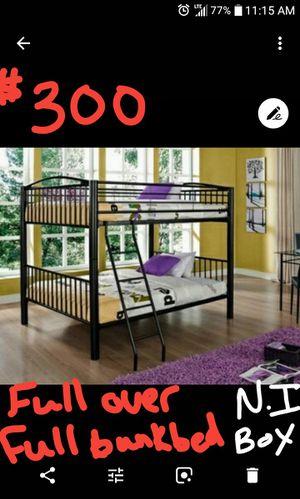 Full over full bunk bed new in box for Sale in Granite City, IL