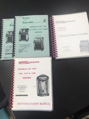 Seeburg Jukebox manuals for Sale in Corona, CA