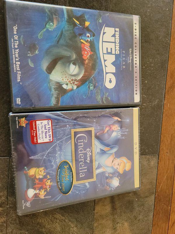 Cinderella and Nemo DVD
