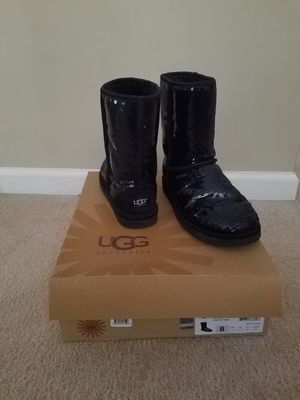 Black Classic Short Sparkle Ugg Boots for Sale in Tyrone, GA