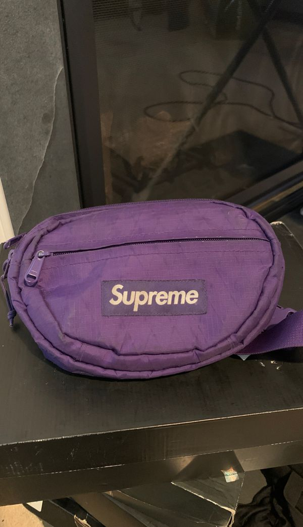 Supreme waist bag (purple)