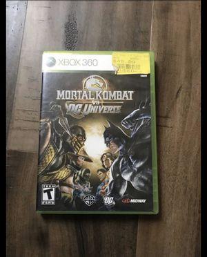 Mortal Kombat Vs Dc Universe Xbox 360 for Sale in San Antonio, TX