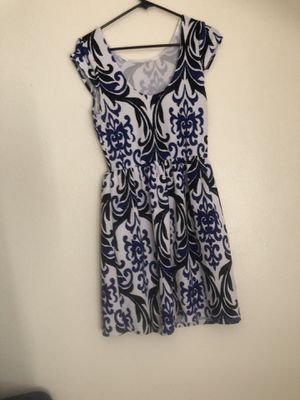 Blue, black and white print mini dress for Sale in El Cajon, CA