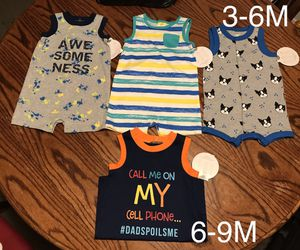 New Baby Boy Rompers!!🦖🦕🦓🦒🐾 for Sale in Long Beach, CA