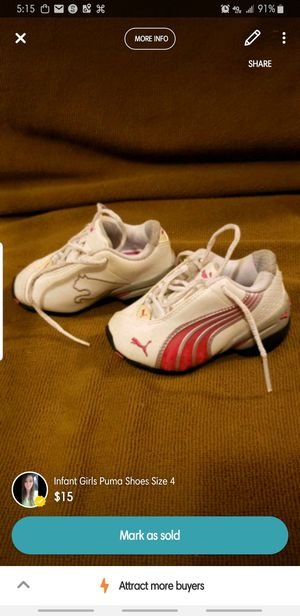 Puma Tennis Shoes Infant or Toddler Size 4 for Sale in Belpre, OH