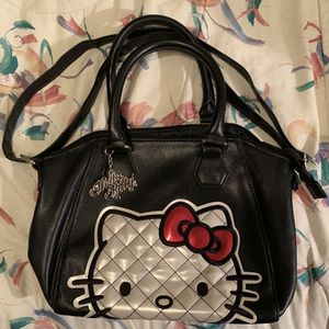 Loungefly Sanrio Quilted Hello Kitty Black Crossbody Purse for Sale in Centreville, VA