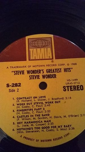 Stevie wonder's greatest hits vinyl record 1968 for Sale in Modesto, CA
