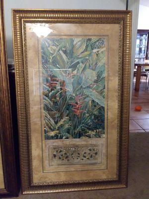 Framed tropical print for Sale in Sarasota, FL
