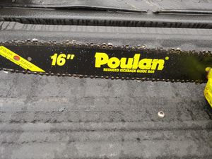 Like new poulan 16-inch gas chainsaw only used one time works perfect for Sale in Beaverton, OR