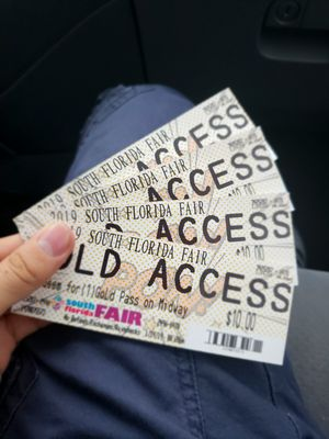 4 Gold passes for the fair for Sale in West Palm Beach, FL
