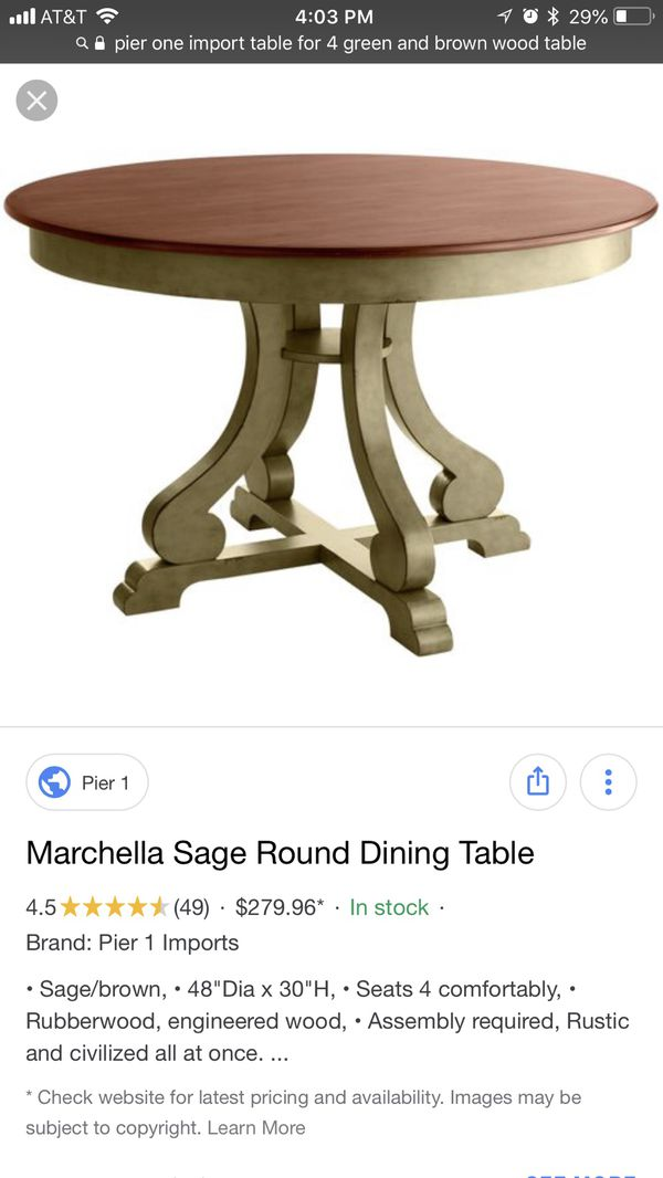 Marchella Sage Round Dining Table For In Mesa Az Offerup