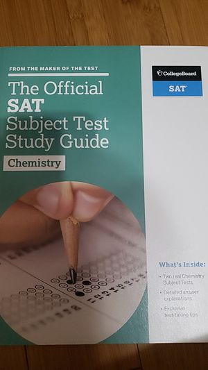 The Officual SAT Subject Test Study Guide Chemistry by CollegeBoard for Sale in Ontario, CA
