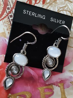 New sterling silver. 925 moonstone dangle earrings for Sale in Fullerton, CA