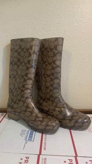 COACH Rubber Rain Boots for Sale in Tampa, FL