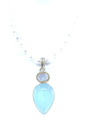Teardrop Chalcedony With Moonstone Pendant for Sale in San Diego, CA
