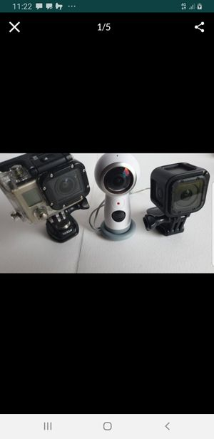 $800 worth of GoPro Samsung 360 Hero 4 Hero 3 bunch of accessories for Sale in Vancouver, WA