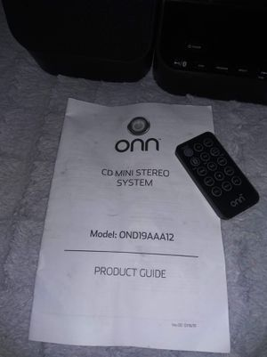 Onn cd mini stereo system for Sale in Winter Haven, FL