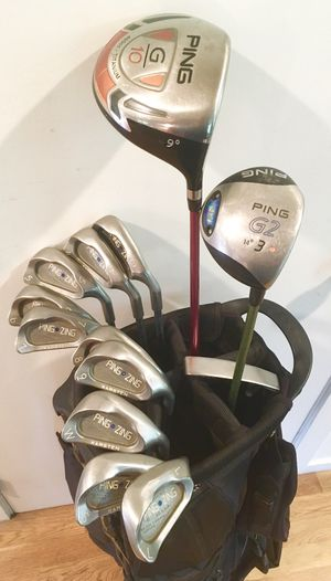Quality! PING GOLF SET - Nice Grips (13 clubs, bag) +Lesson w/ PGA Pro - $345 (La Mesa) for Sale in La Mesa, CA