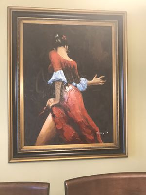 Painting- Woman in red for Sale in Houston, TX