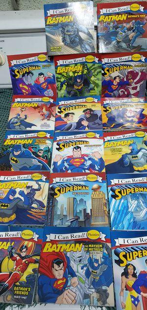 (17) Batman Superman Phonics Books Pre-School Kindergarten Kinder $2.00 Each for Sale in Gardena, CA