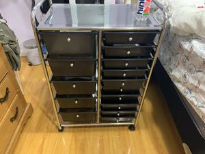 Plastic and chrome drawers for Sale in Anaheim, CA