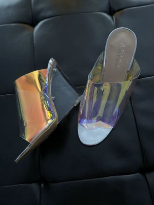 Transparent clear wedge heels sz9 for Sale in Florissant, MO
