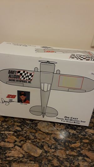 Davey allison die cast airplane bank for Sale in Tampa, FL