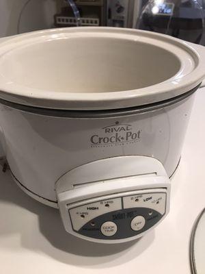 Rival 4-qt crock pot for Sale in Washington, DC