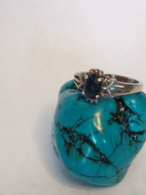 Sapphire Sterling silver size 6 ring for Sale in Willow Street, PA