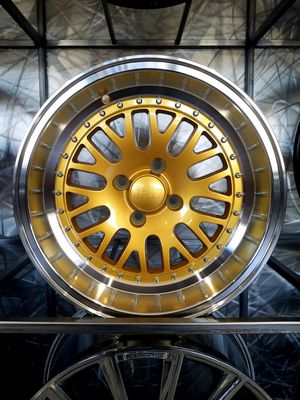 PRICE FOR SET 15×8 4-100 +0 offset gold lipped wheels fits Honda Mazda Toyota rims for Sale in Tempe, AZ