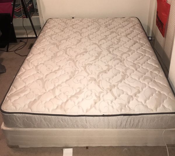 Queen bed and mattress (clean)""
