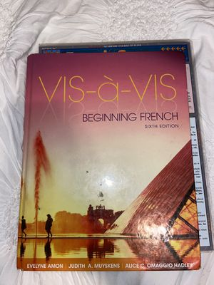 Vis a Vis Beginning French Textbook 6th Edition for Sale in Baldwin Park, CA