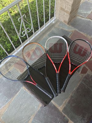 Tennis rackets $15 each or $50 for 4 for Sale in Hackensack, NJ