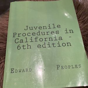 Juvenile Procedures 6th Edition for Sale in Whittier, CA