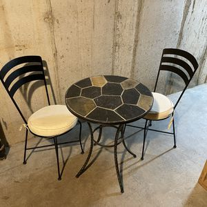 Stone Patio Table With Matching Chairs for Sale in Ballwin, MO