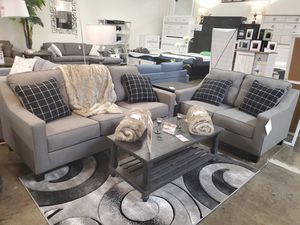 NEW, Sofa and Loveseat, Charcoal, SKU# 53901 for Sale in Santa Ana, CA
