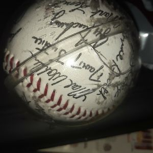 97 Braves World Series Autographed Baseball In Protective Case for Sale in Atlanta, GA