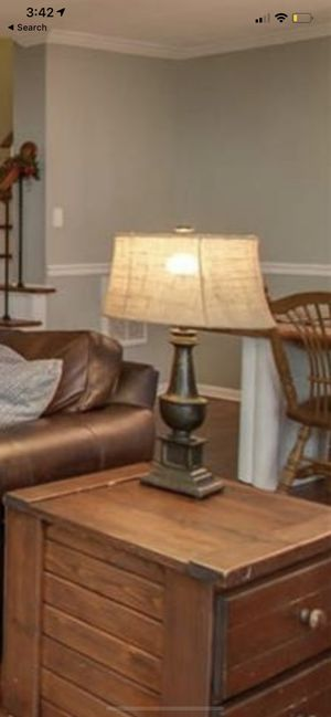 2 Pottery Barn Lamps with Burlap shade for Sale in Chesapeake, VA